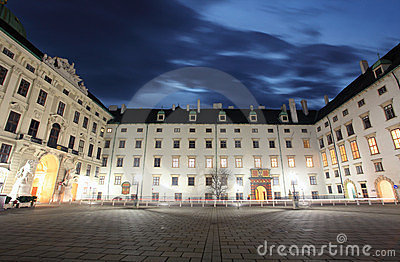 Hofburg Imperial Palace at night - Vienna
