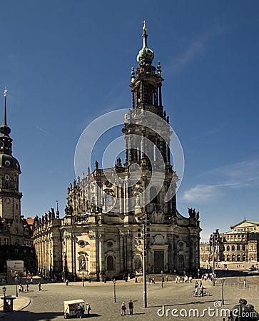 Hofkirche Editorial Photography