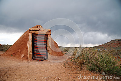 Hogan -Navajo native indian house, USA