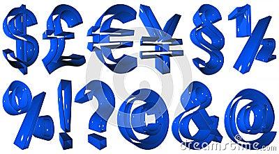 Hoge resolutie 3D symbolen