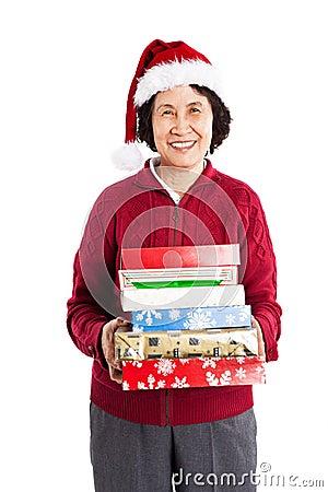 Hogere Aziatische het vieren Kerstmis