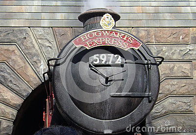 Hogwarts Express, Wizarding world of Harry Potter Editorial Photo