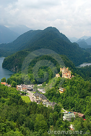 Hohenschwangau  castle in German Alps