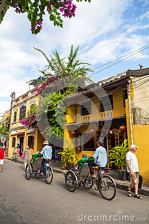 Hoi An ancient town under blue sky Editorial Stock Photo