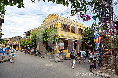 Hoi An ancient town under blue sky Editorial Image