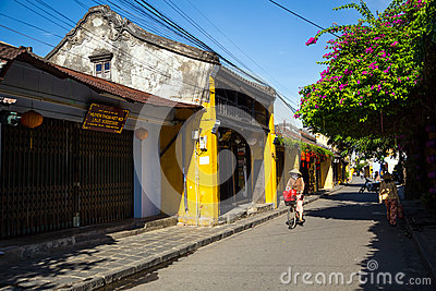Hoi An ancient town under blue sky Editorial Photo