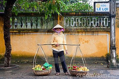 Hoi An fruit seller Editorial Image