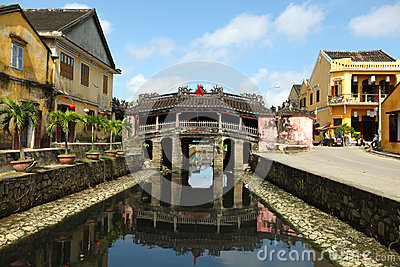Hoi An japanese bridge heritage site by Unesco, Vietnam