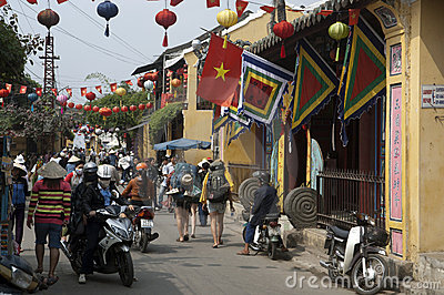 HOI AN, VIETNAM Tourists Editorial Photo