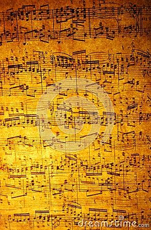 Hoja de música de la vendimia