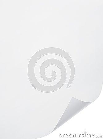 Hoja del papel en blanco