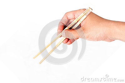 Hold chopsticks