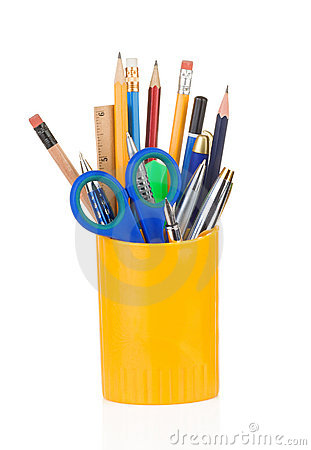 Free Holder Full Of Pen And Pencil Stock Images - 20861104
