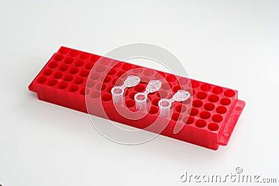 The holder of test tubes for biological liquids