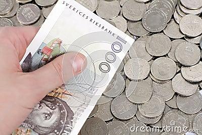 Holding 1000 Swedish Kronor