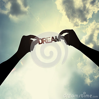 Free Holding A Dream In Sky Royalty Free Stock Image - 40290706