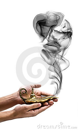 Free Holding A Magic Lamp Stock Photography - 5480702