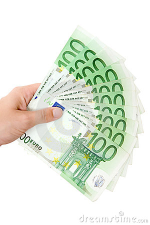 Free Holding A Money Fan Stock Photo - 3619410