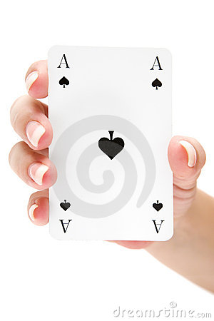 Free Holding An Ace Of Spades Stock Photo - 4129750