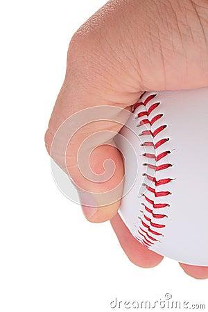 Holding a baseball