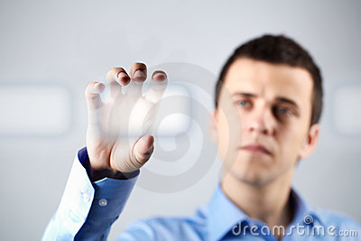 Holding Button Royalty Free Stock Photography - Image: 22576807
