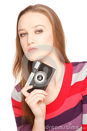 Holding a camera