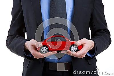 Holding a car