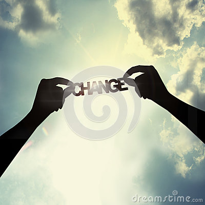 Free Holding Change In The Sky Stock Photo - 45368050