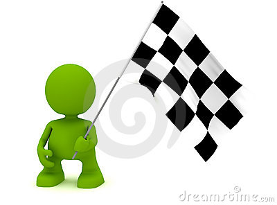 Holding a Chequered Flag
