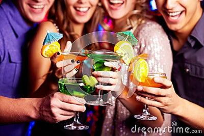 Holding cocktails