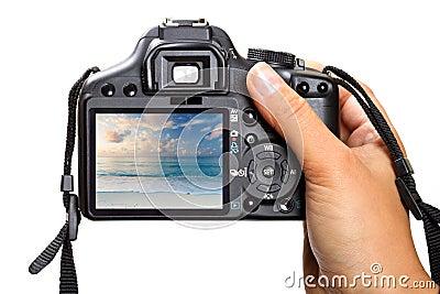 Holding DSLR camera