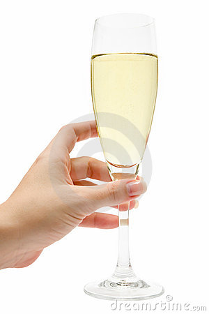 Holding a Glass of Champagne