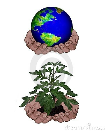Free Holding Globe/plant Stock Image - 869091