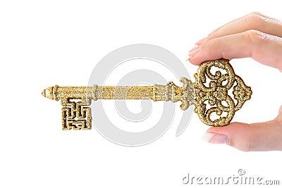 Holding a Golden Key