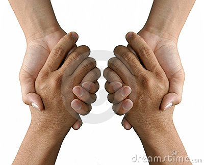 Holding or grasping hands