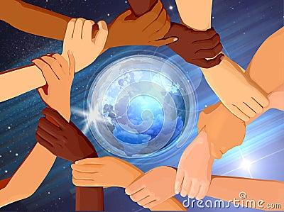 Holding Hands Around The Globe