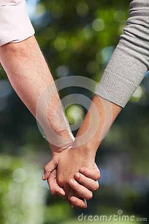 Holding by hands