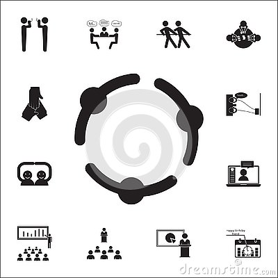 holding hands icon. Conversation and Friendship icons universal set for web and mobile Stock Photo