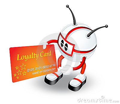 Holding Loyalty card