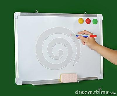 holding marker whiteboard