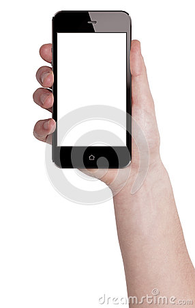 Free Holding Mobile Smart Phone In Male Hand Stock Images - 39869274