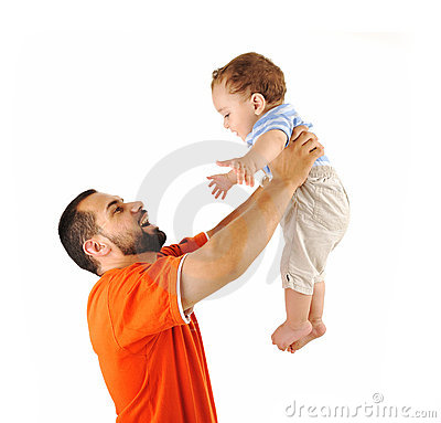 Free Holding My Son, Studio Shutting Stock Image - 20515761