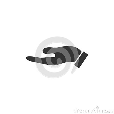 Holding palm icon flat Vector Illustration