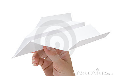 Holding a Paper Plane