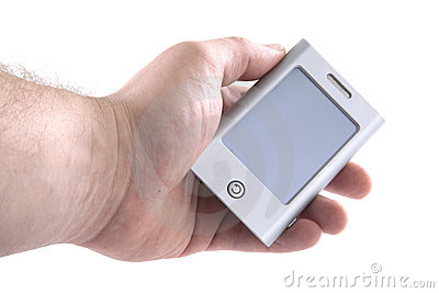 Holding a PDA