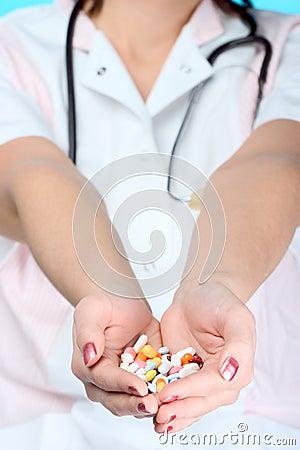Free Holding Pills Stock Photos - 1717403