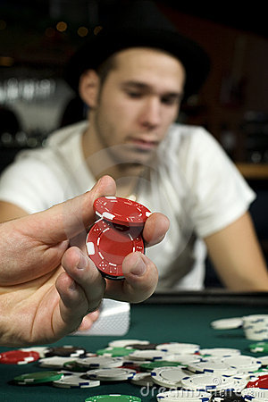 Holding poker chips