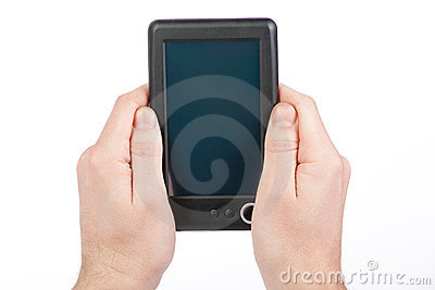 Holding Portable E-book Reader
