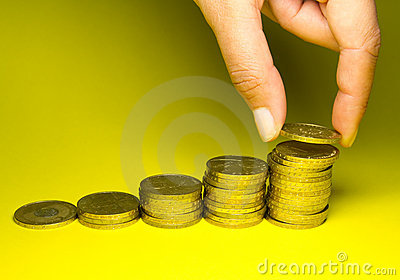 Holding savings of gold coins