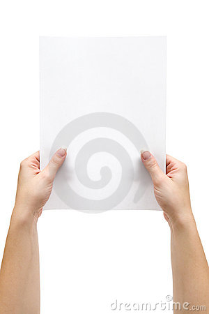 Holding a Sheet of Paper